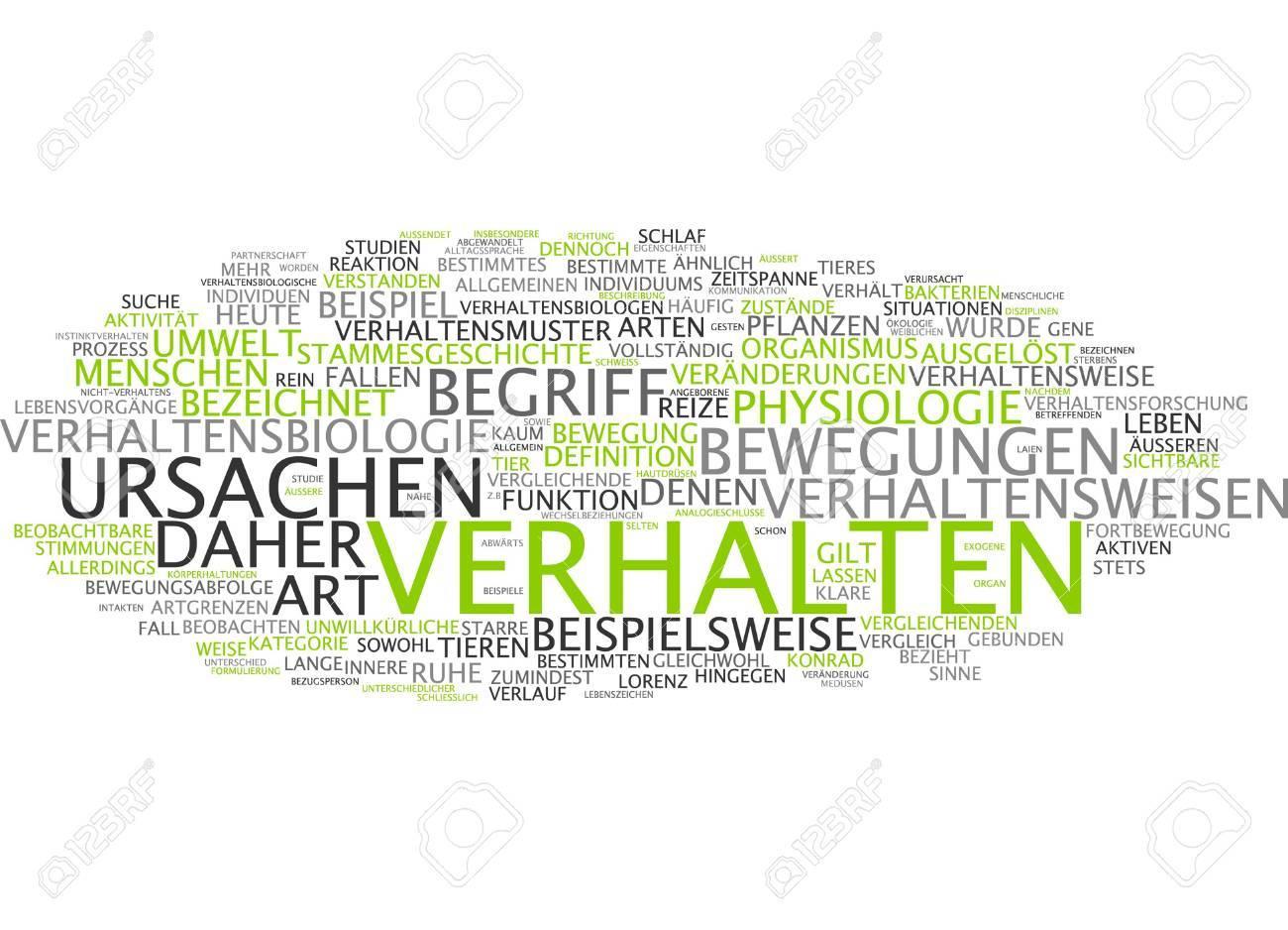 Word Cloud Of Conduct In German Language