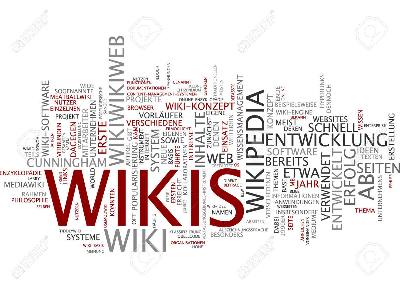 Word Cloud Of Wikipedia In German Language Stock Photo Picture - Wikipedia royalty free images