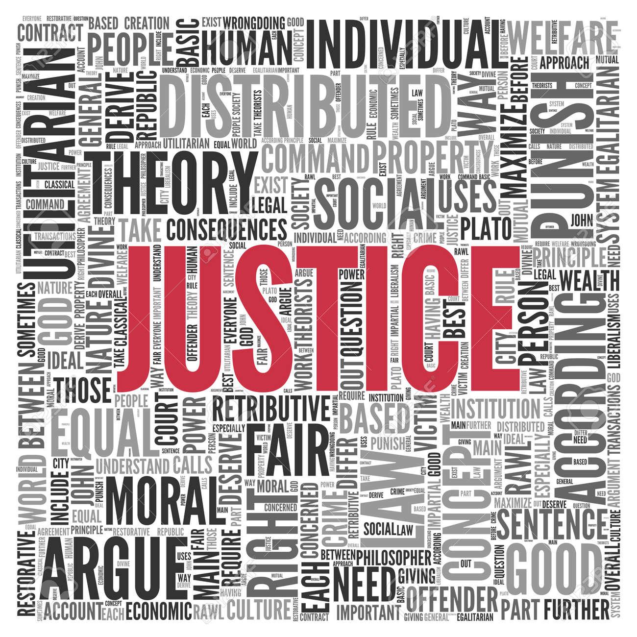 Cierre de justicia texto en el tag centro de nube de la palabra en el fondo