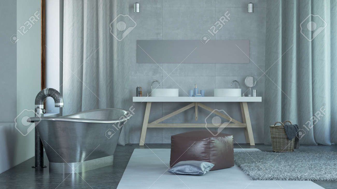 Moderne Architektur Geräumiges Haus Badezimmer Interior Design Mit ...