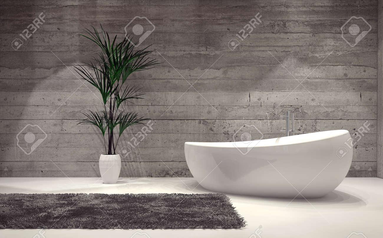 Boot-förmigen Zeitgenössischer Badewanne In Einem Stilvollen Grauen ...