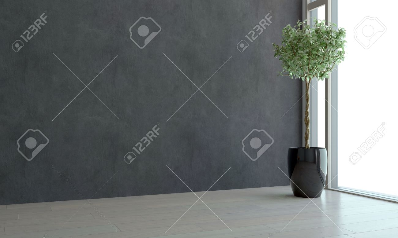 Corner View Of An Empty Room With Ceiling To Floor View Window Stock Photo Picture And Royalty Free Image Image 45159253