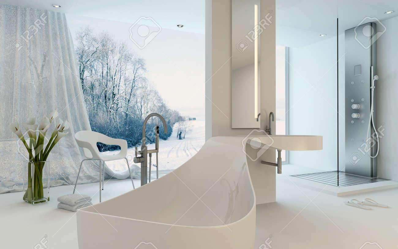 Ultra Modern Design Badezimmer Interieur Mit Ungewohnlich Geformte