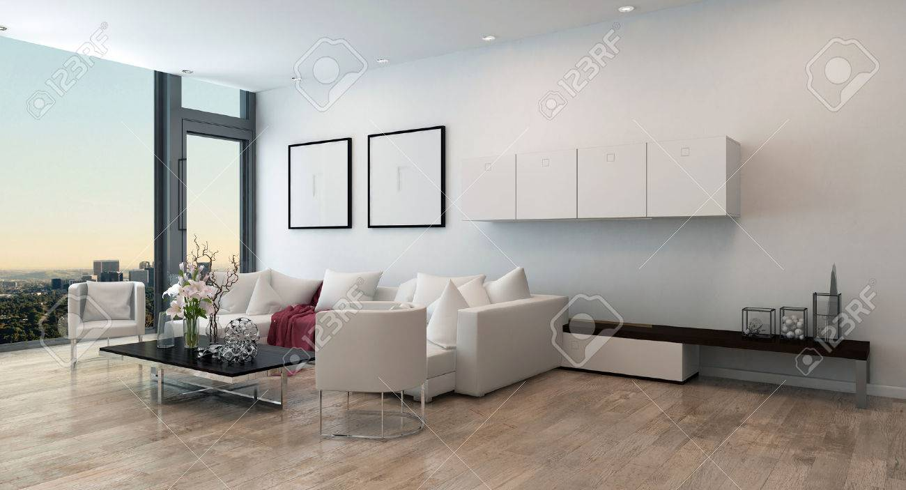 Architectural Interior Of Open Concept Apartment In High Rise Stock Photo Picture And Royalty Free Image Image 48326677