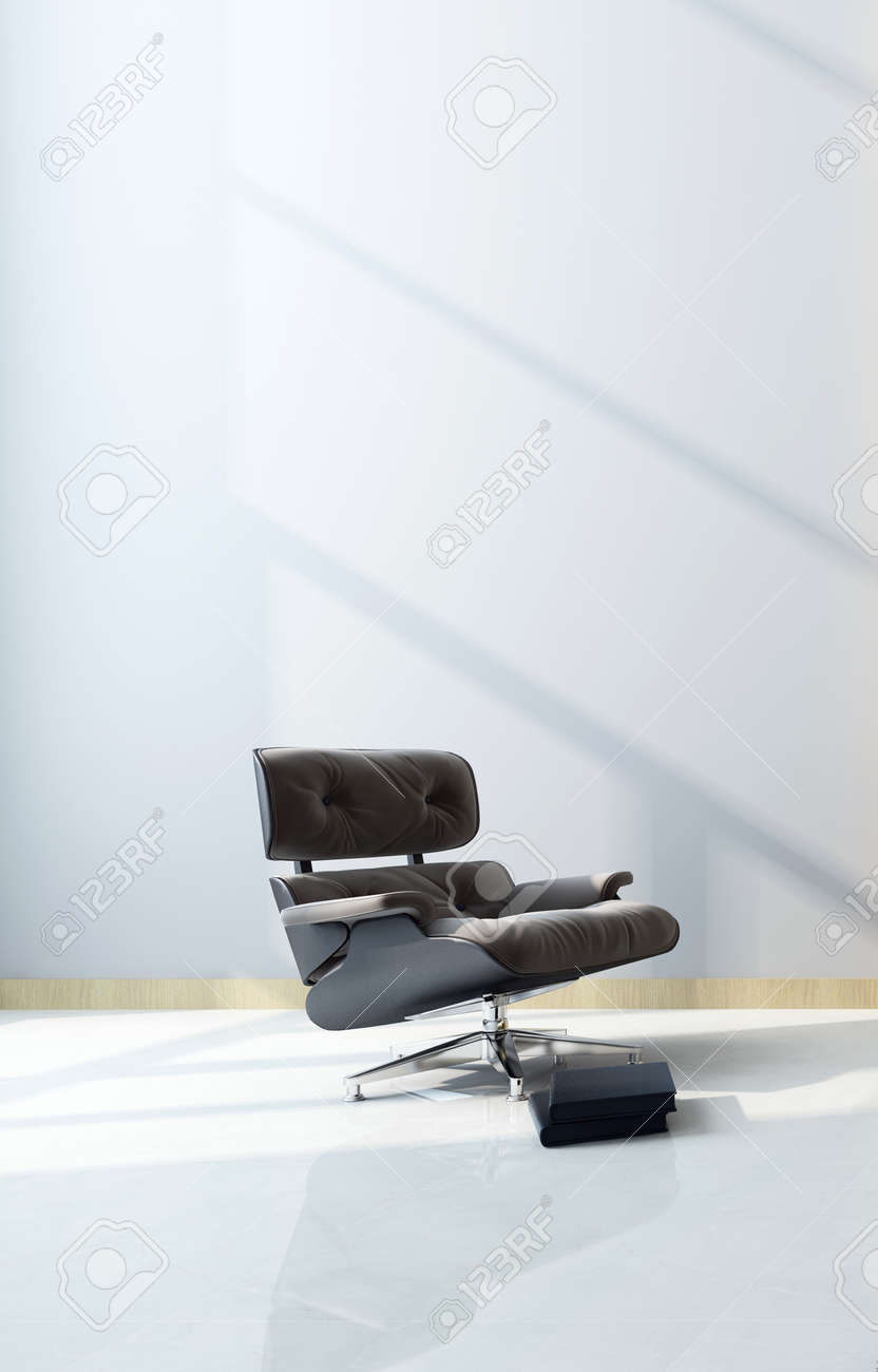 Modern Black Maximum Comfort Recliner Chair With Footstool In