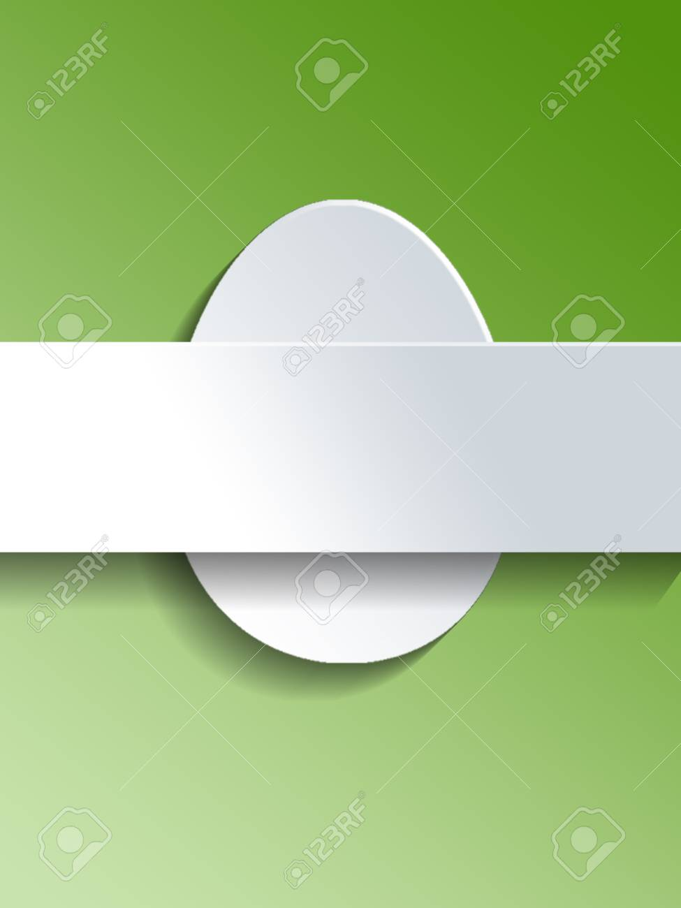Blank Easter Egg Template With White Cut Outs Of An Easter Egg