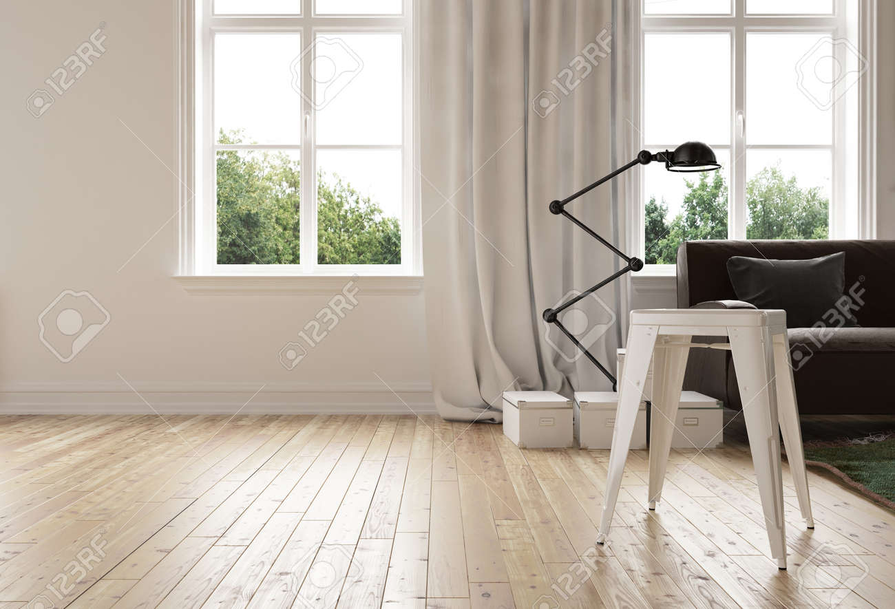 Modern minimalist living room with hardwood floor and a stylish modern minimalist living room with hardwood floor and a stylish flexible angle poise standing lamp alongside aloadofball Gallery