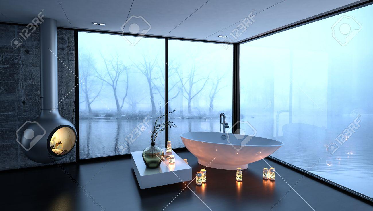 Vasche Da Bagno Di Lusso. Immagine Di Una Stanza Da Bagno Padronale ...