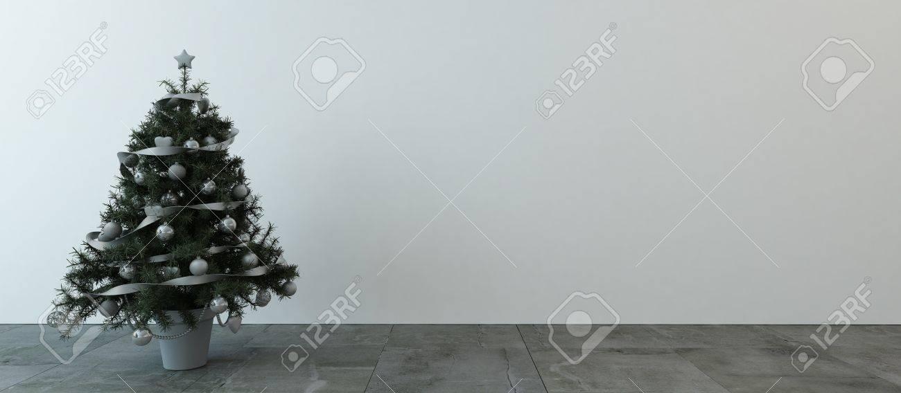 Pequeña árbol De Navidad Decorado Con Cinta Interior Guirnalda De ...