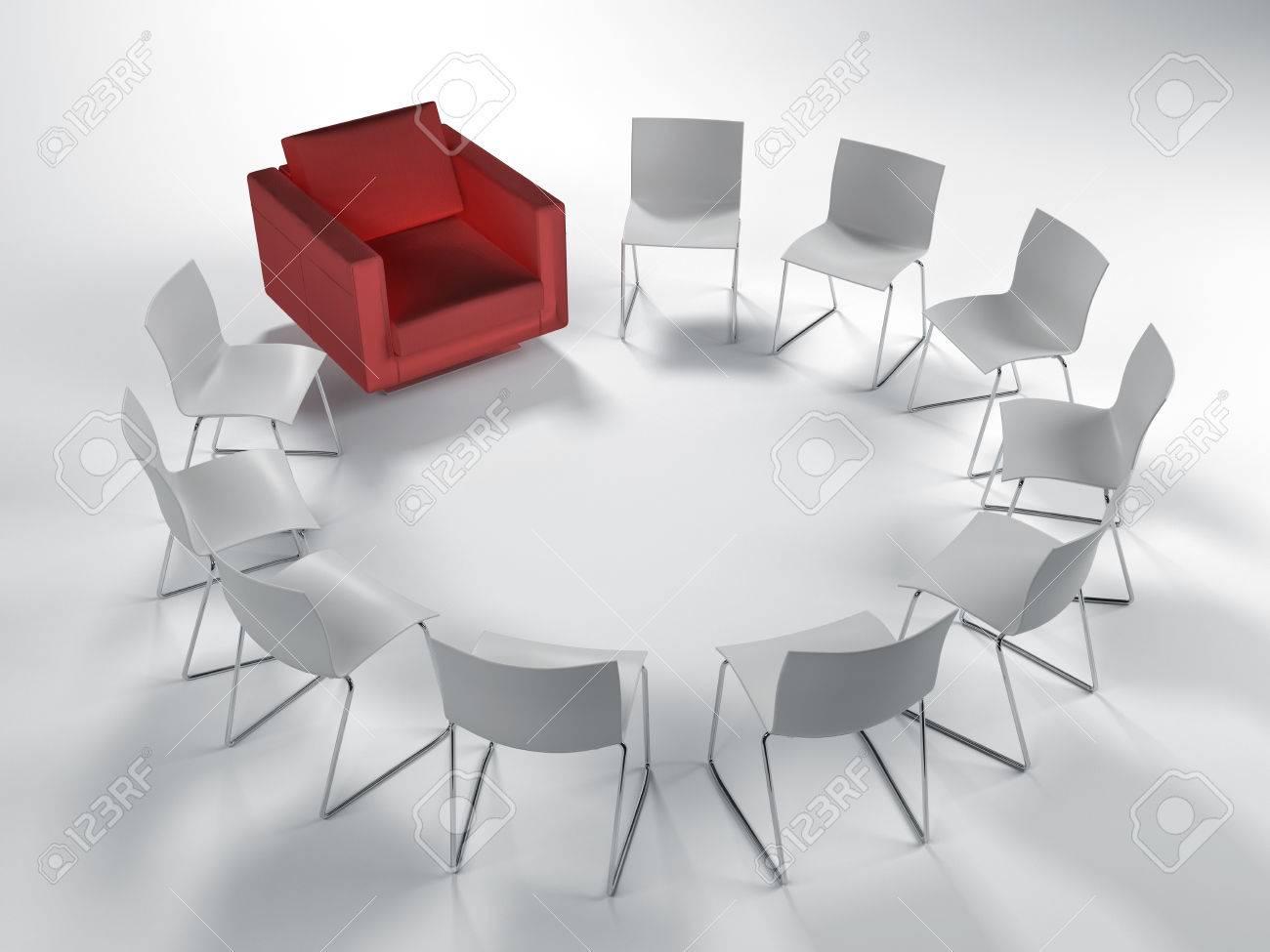 Schön Weisse Stühle Galerie Von Kreis Der Weißen Stühle Modular Mit Einem