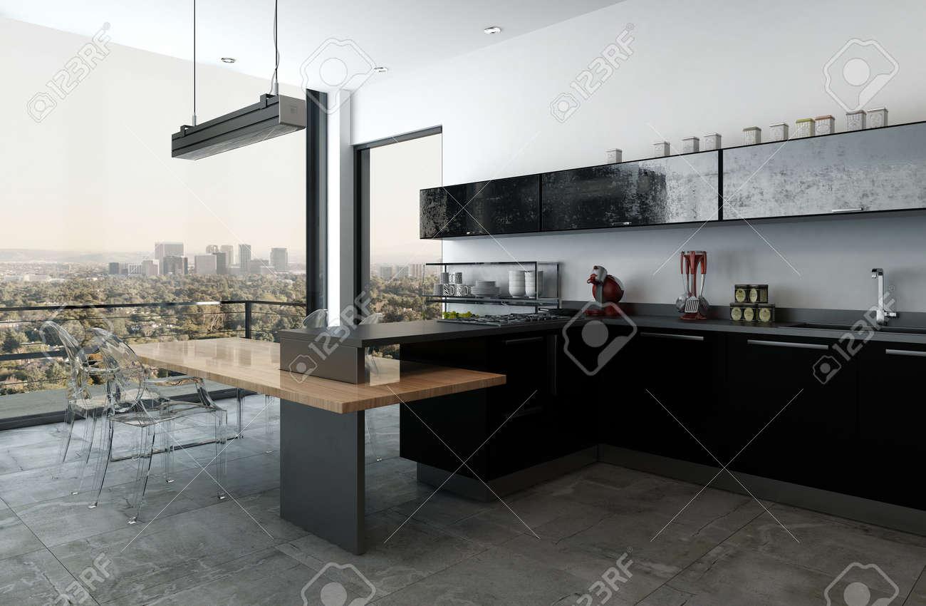 Großartig Küche Bilder Mit Schwarzen Schränken Fotos - Küche Set ...