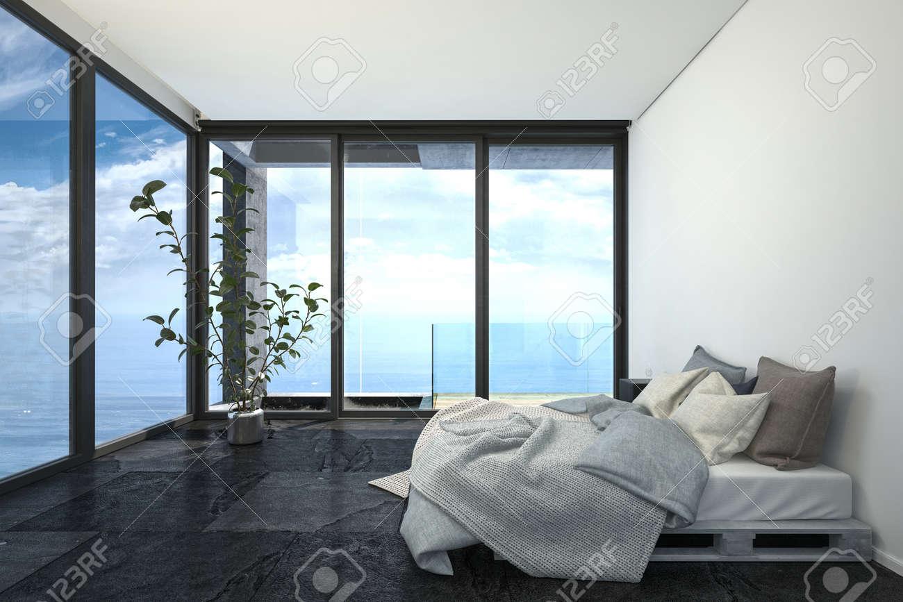 Hotel Ou Penthouse Chambre Dans La Decoration Interieure Minimaliste