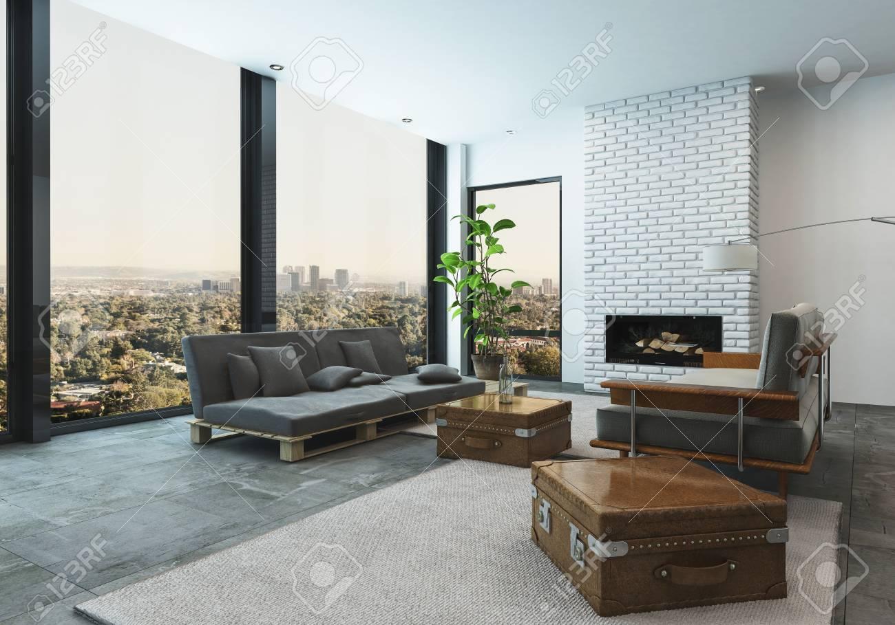 Soggiorno di design percorsi ridisegnati per una casa più