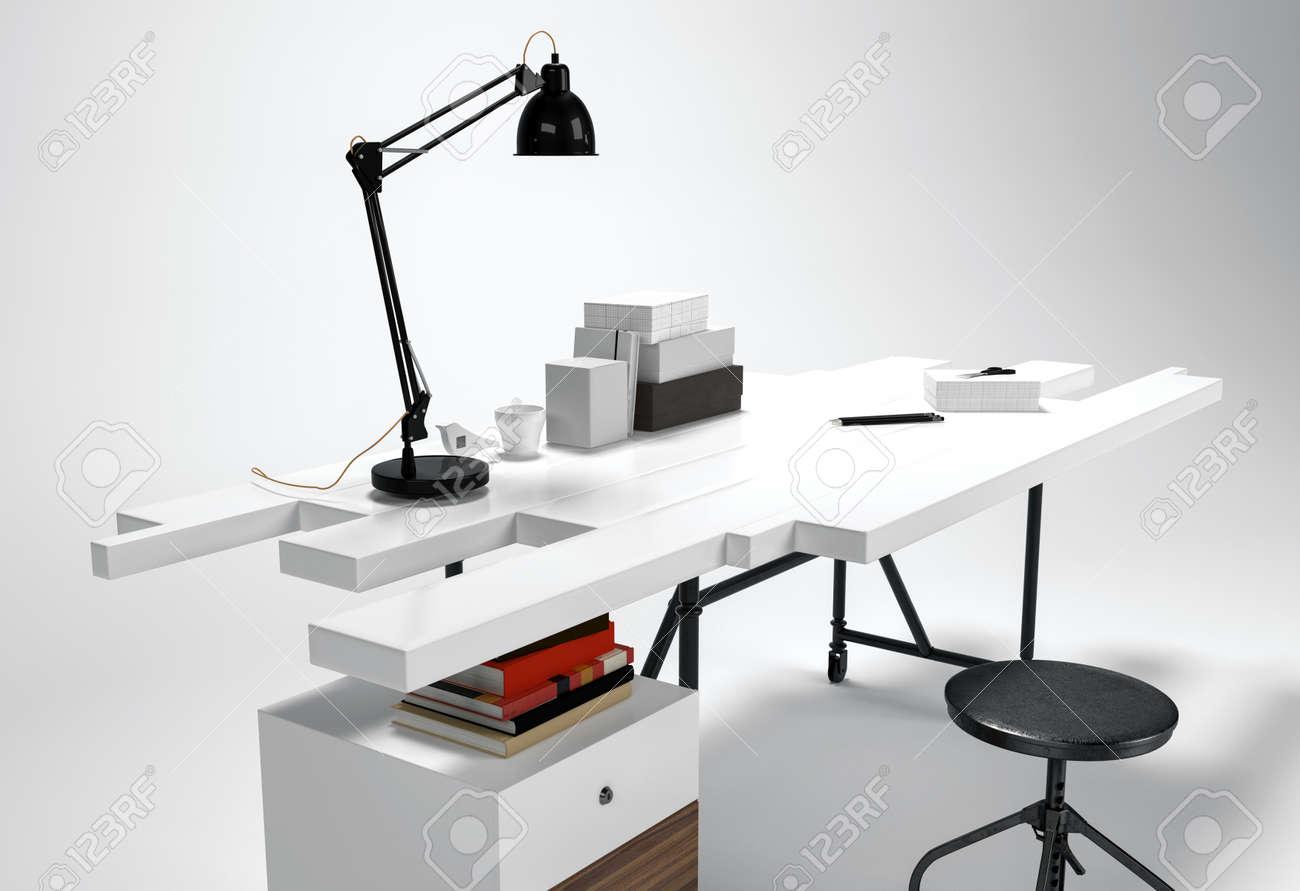Schreibtisch futuristisch  Stock Photo