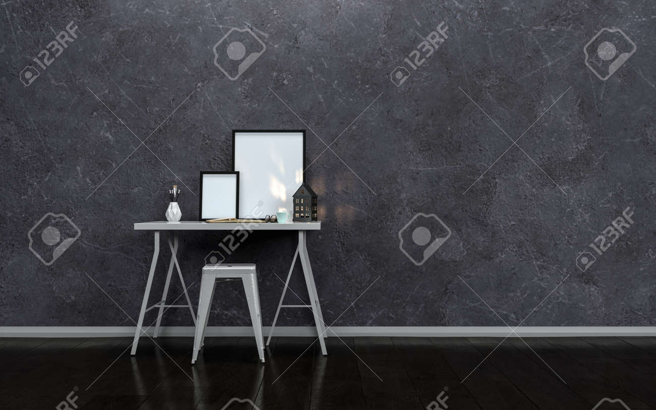 Pleasant Small Modern Writing Table Or Desk With Blank Picture Frames Gmtry Best Dining Table And Chair Ideas Images Gmtryco