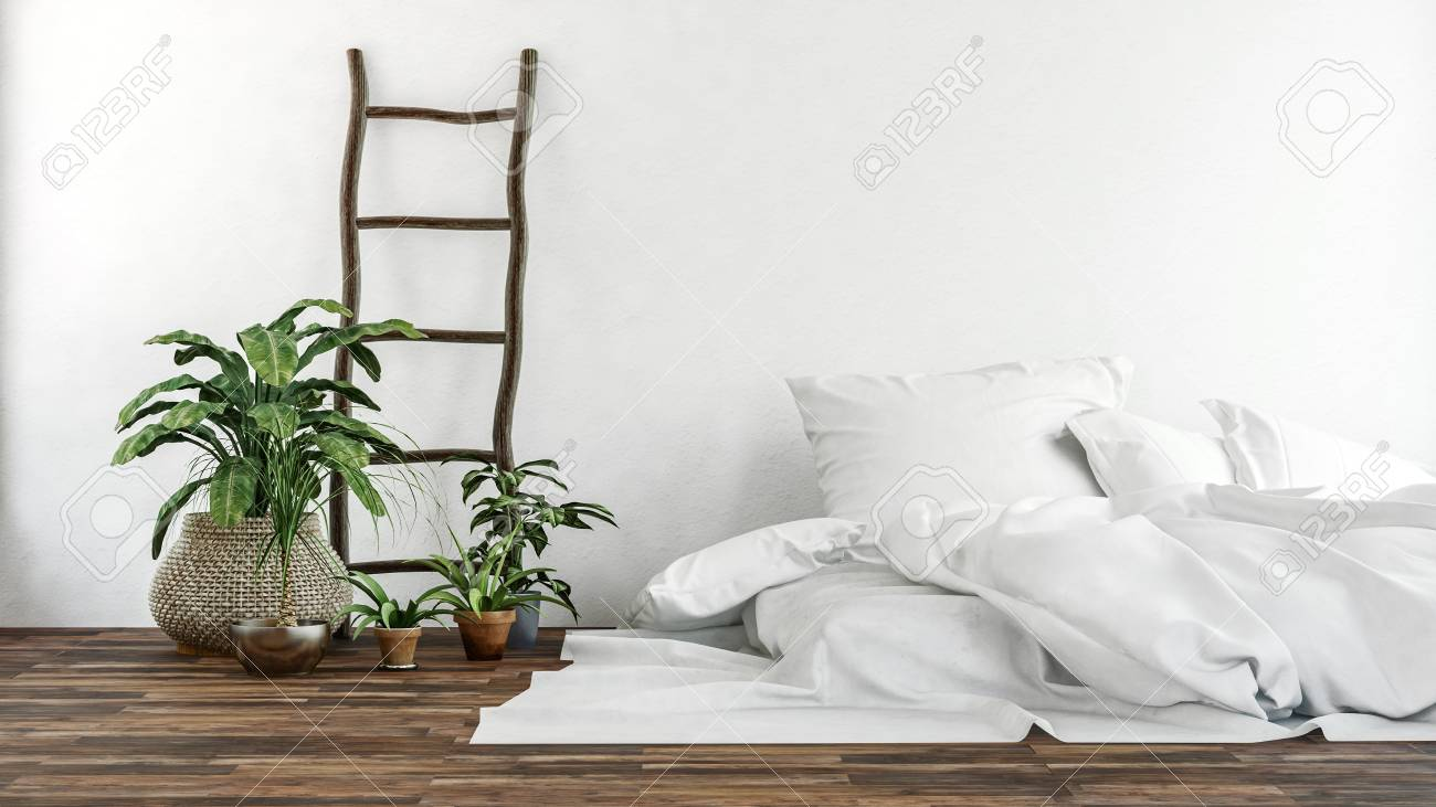 Wide View Of Green Leafy Plants And White Fabric Pillows And Stock Photo Picture And Royalty Free Image Image 86111975