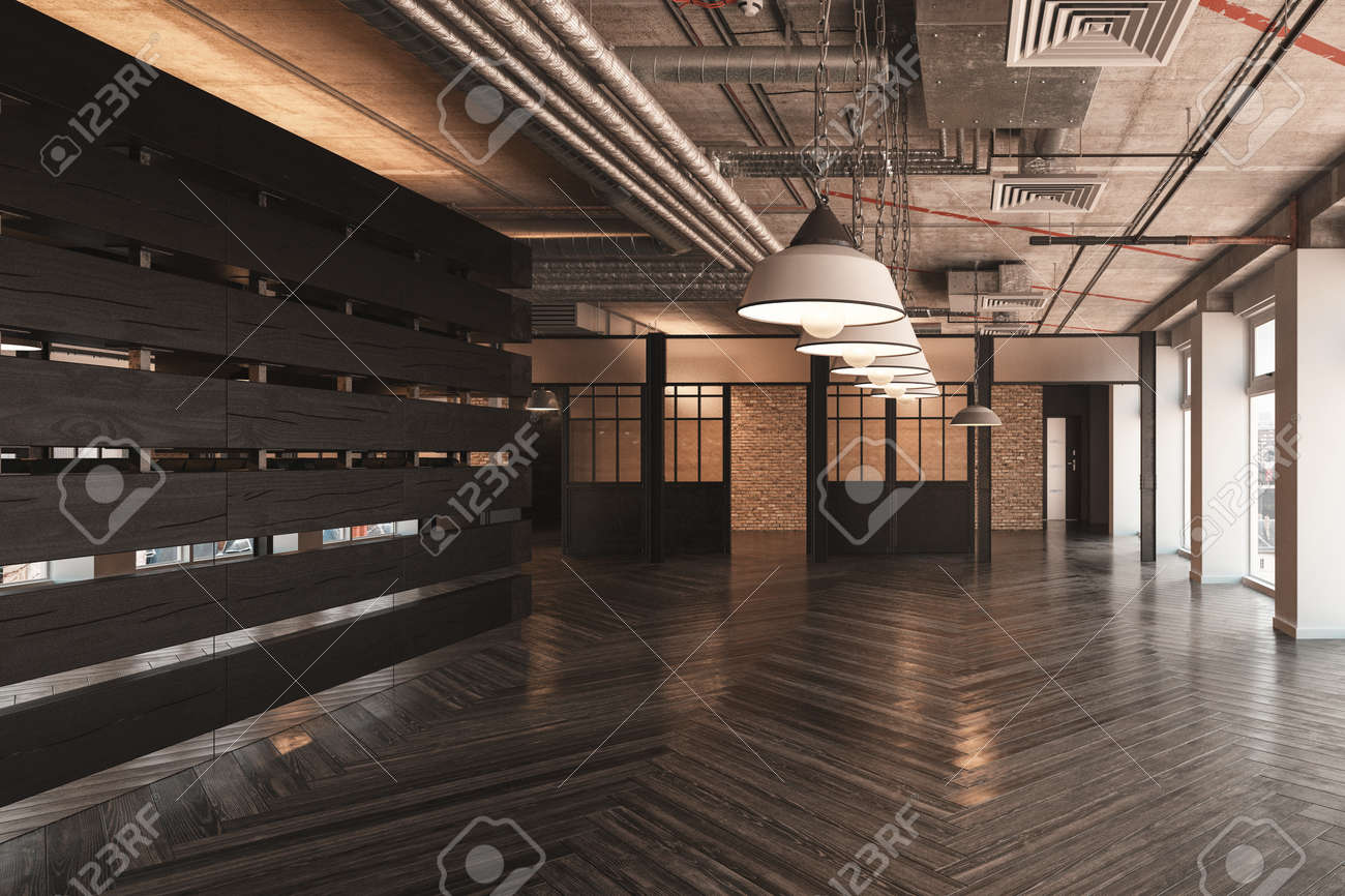 Swell Large Empty Showroom Or Commercial Space With A Row Of Ceiling Download Free Architecture Designs Scobabritishbridgeorg