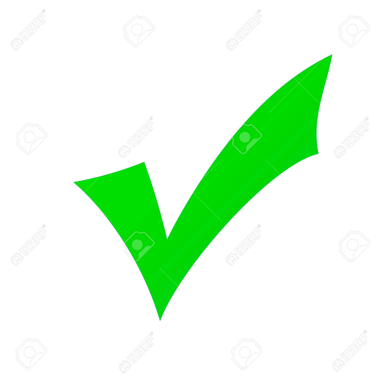 green check mark isolated on a white background stock photo