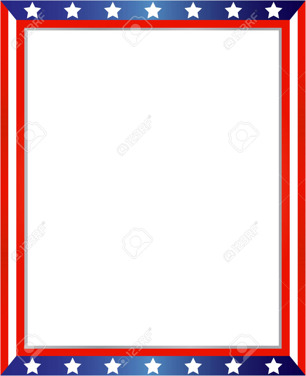 USA Flag Frame On White Background With Copy Space For Your Text ...