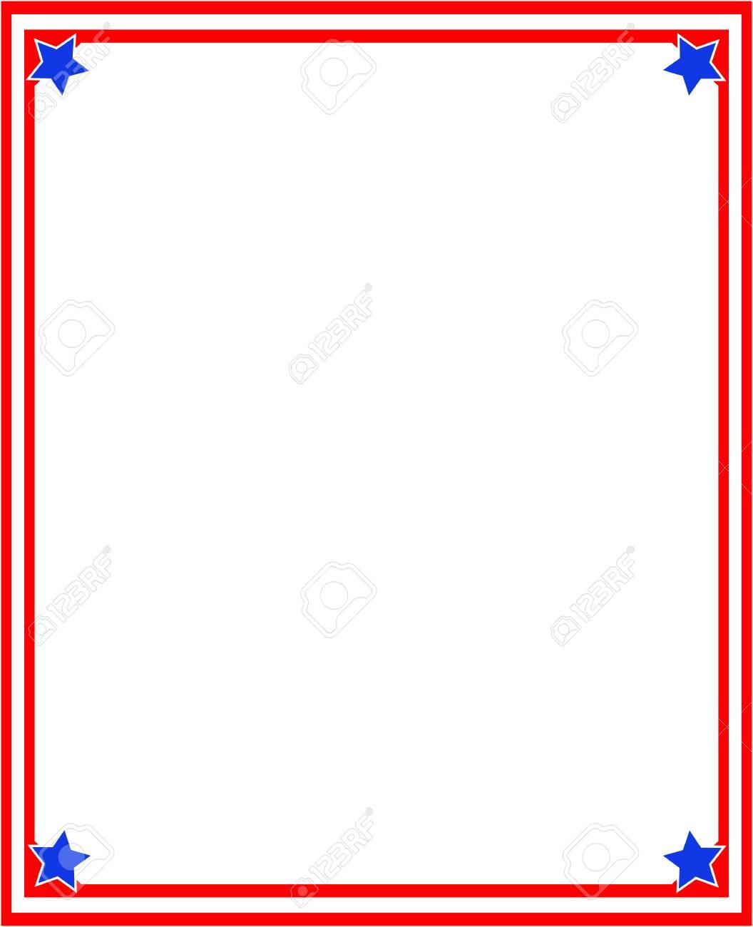 Abstrakter Roter Rahmen Der Amerikanischen Flagge Mit Leerem Raum ...