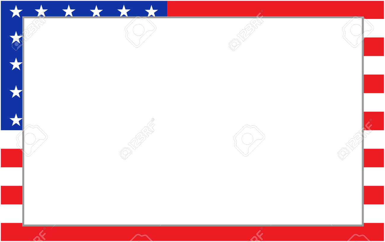 United States flag border for your text. - 125998530