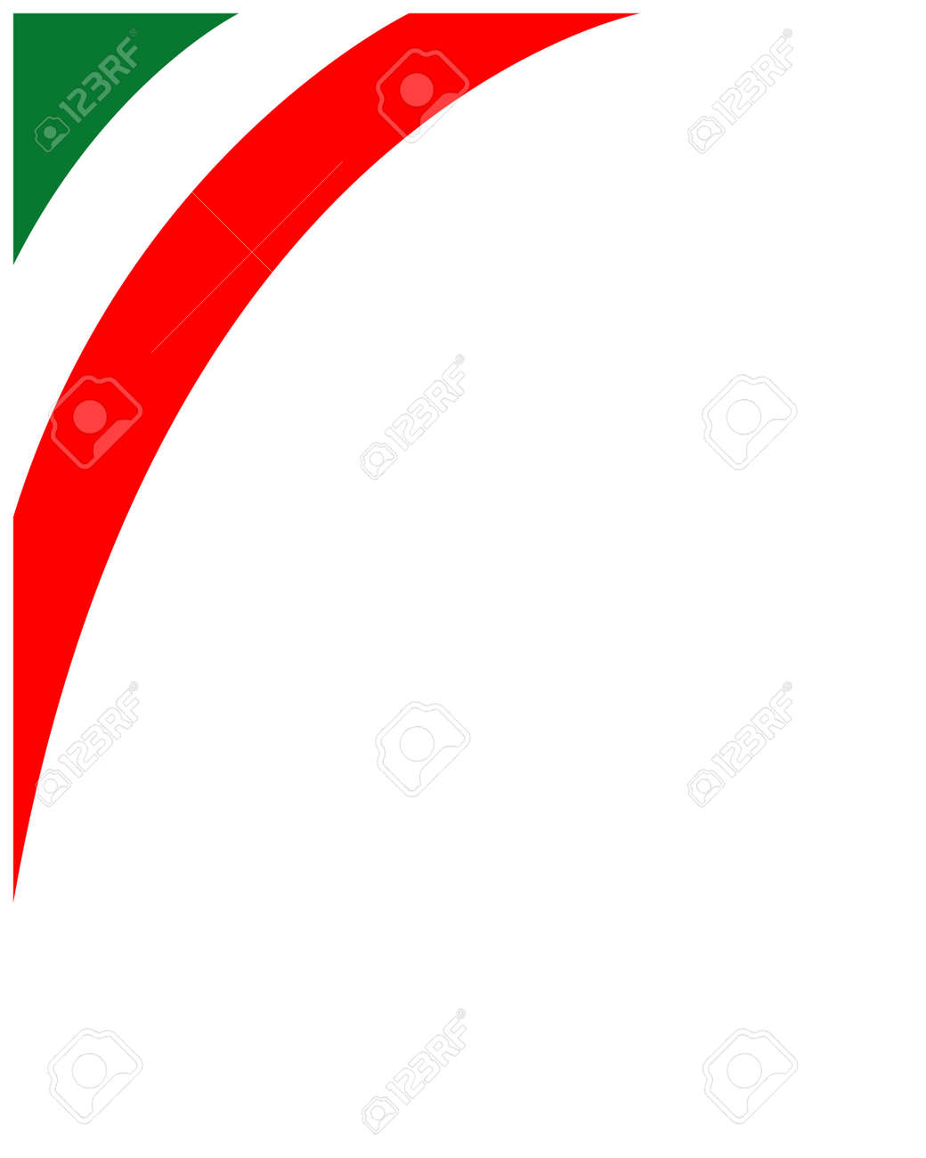 Italian flag corner frame with empty space for your text. - 140272929