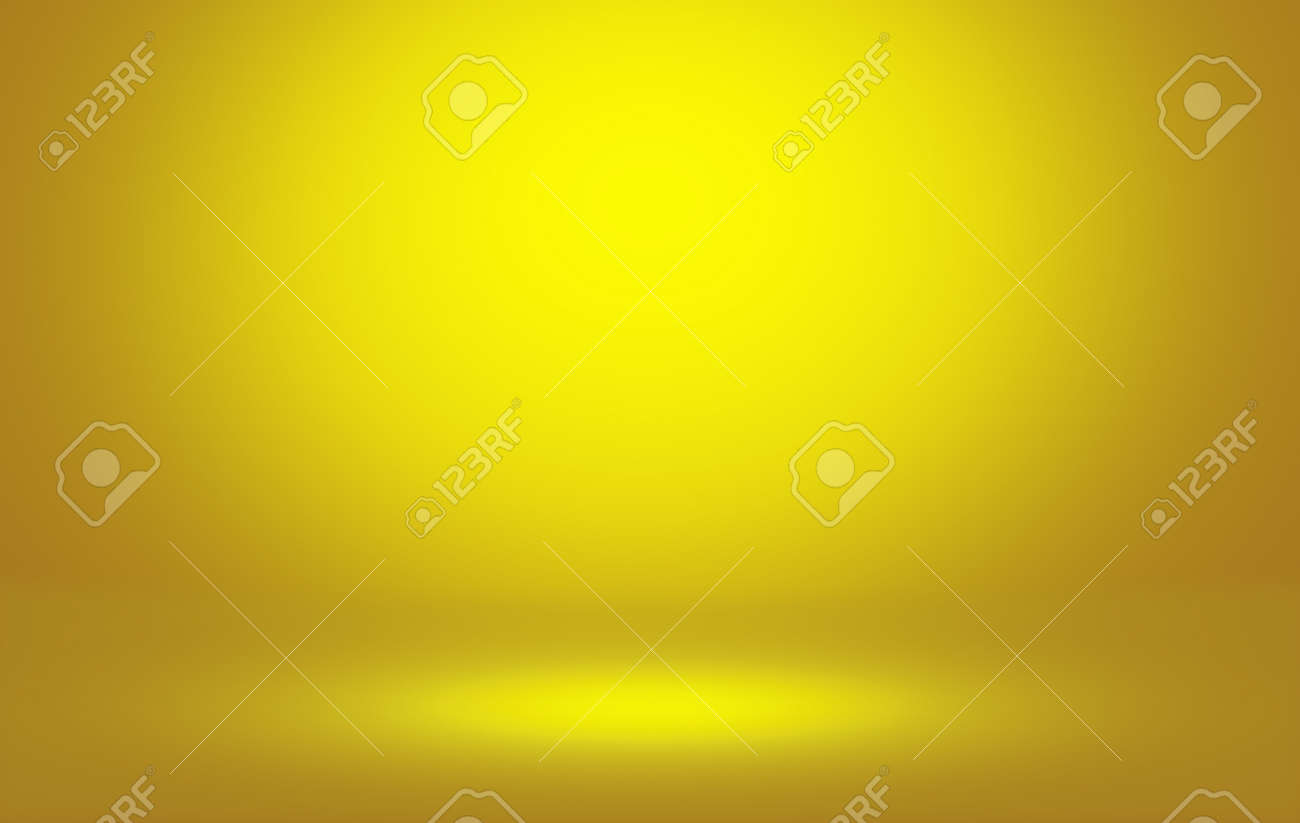 Golden Studio room workshop background with spotlight and empty space for your design. - 155078811