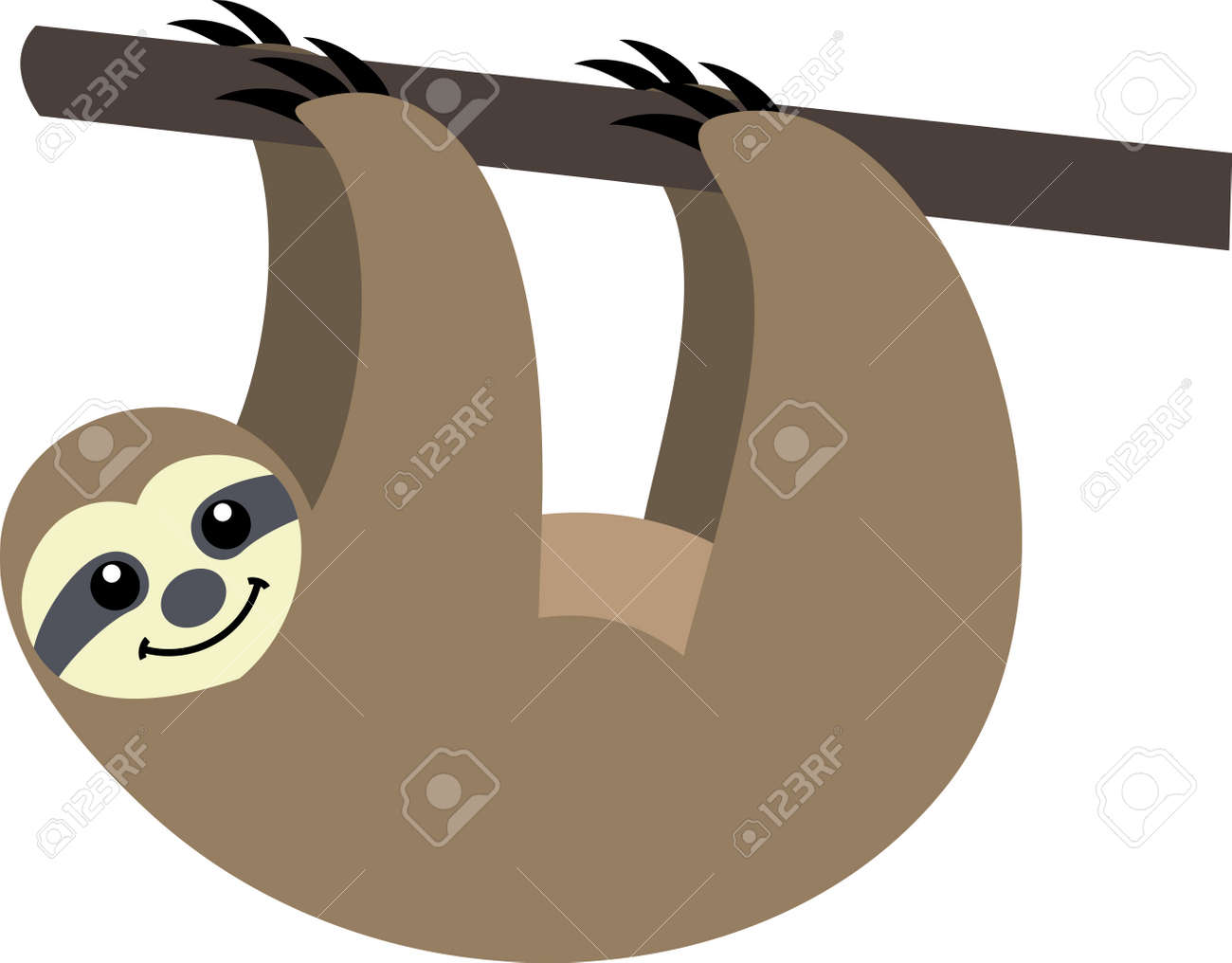 funny sloth royalty free cliparts vectors and stock illustration rh 123rf com sloth clipart gif sloth clipart png