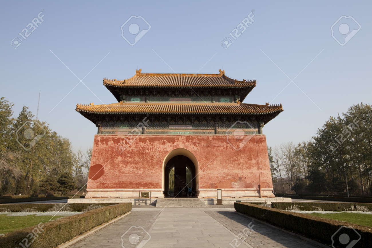 Chinese Fortress On The Sacred Way Of The Ming Tombs Stock Photo - 11593952
