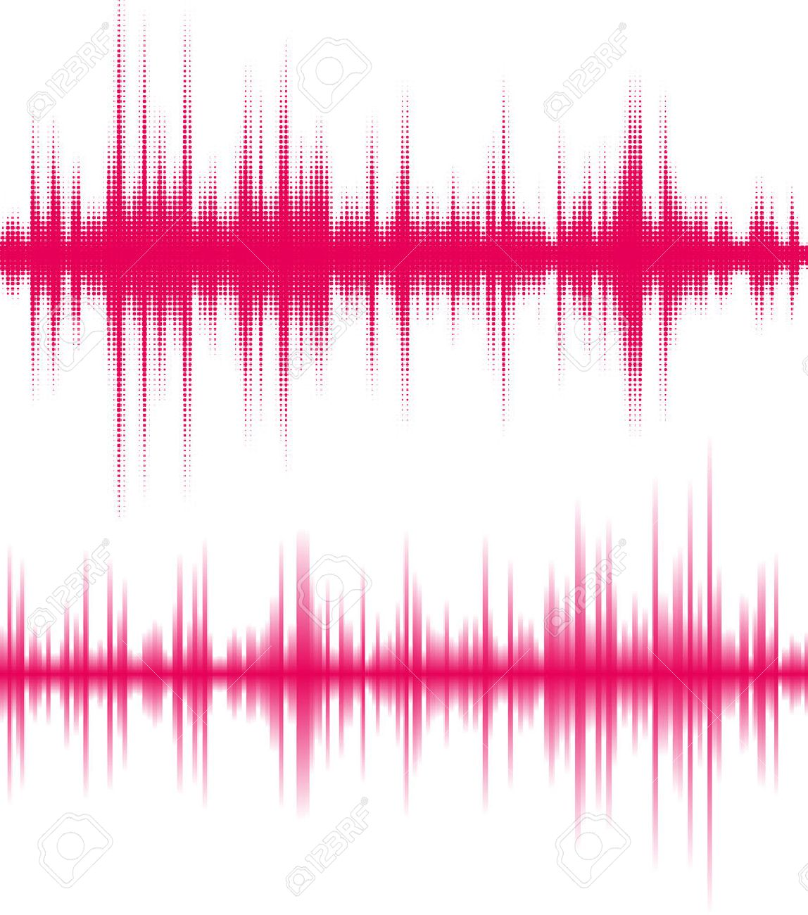 Digital pink equalizer. The vibrations of the sound waves. - 39536800