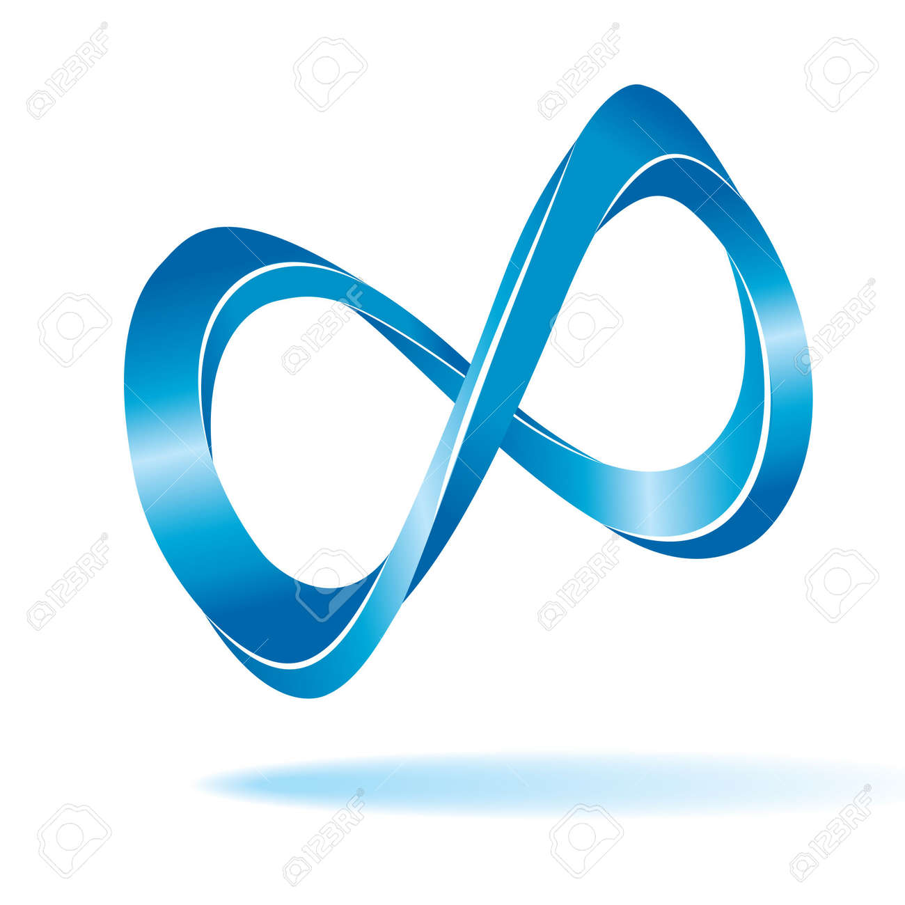 Blue infinity sign Stock Vector - 6762094