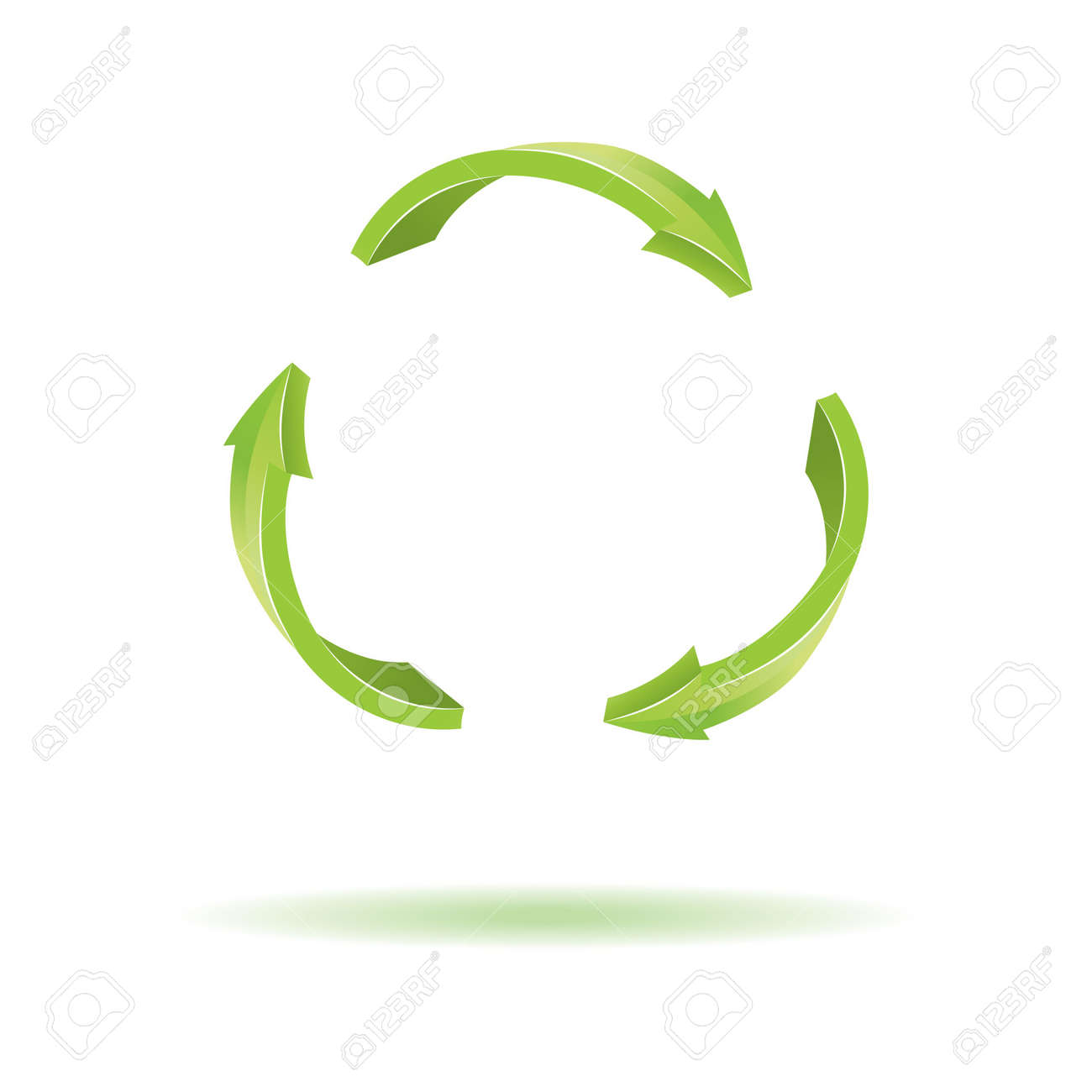 3d Arrows Recycle Symbol Royalty Free Cliparts Vectors And Stock