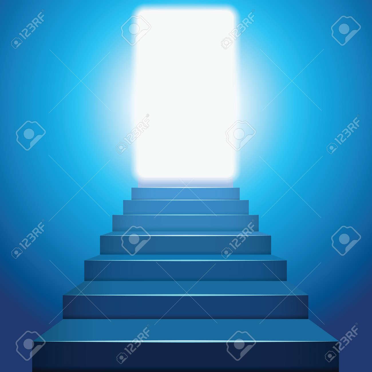 Stairway to heaven in the light. Stock Vector - 10823665