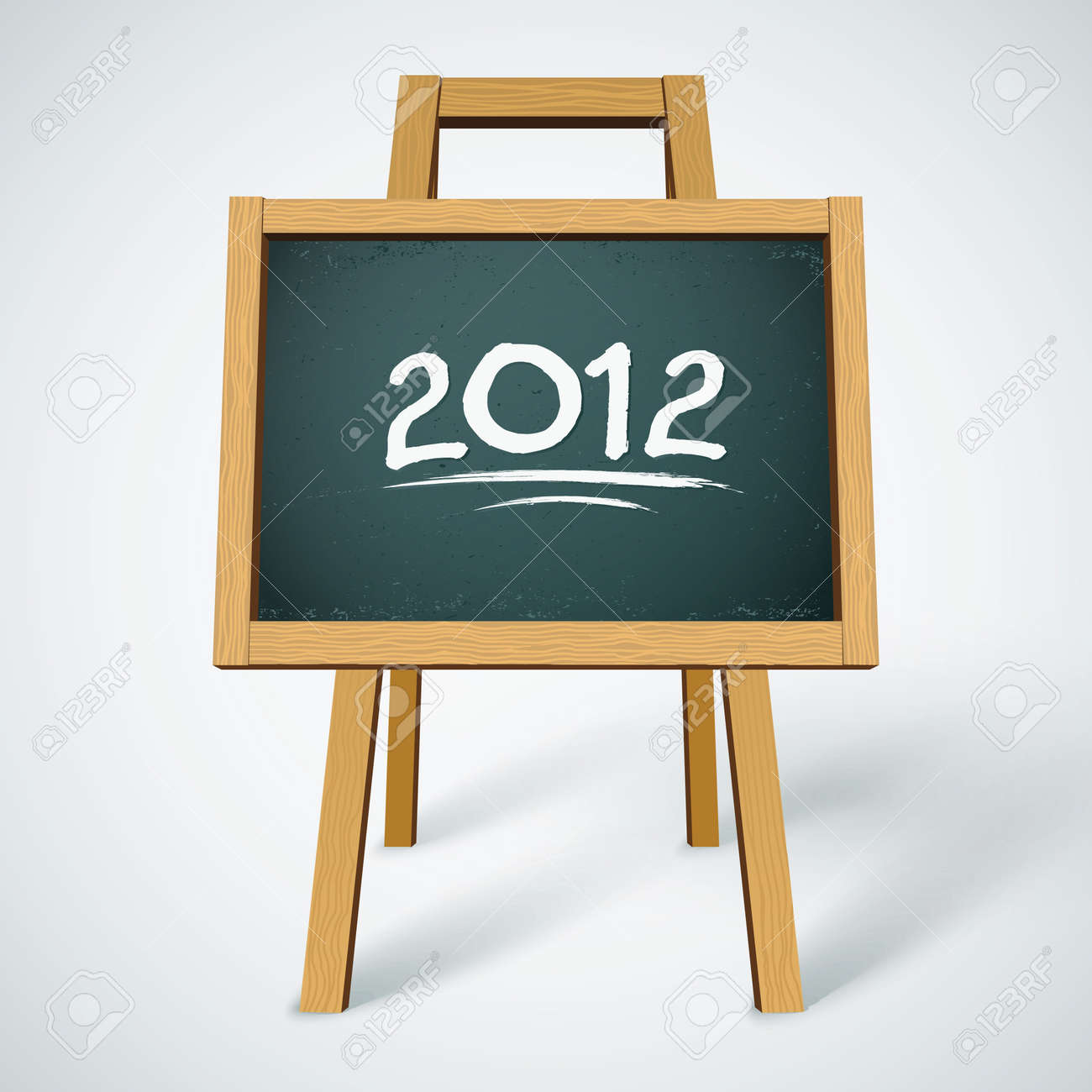 2012 on class chalkboard background Stock Vector - 10823674