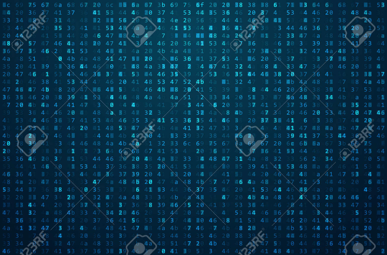 Abstract Matrix Background. Binary Computer Code. Coding / Hacker concept. Background Illustration. - 56768357