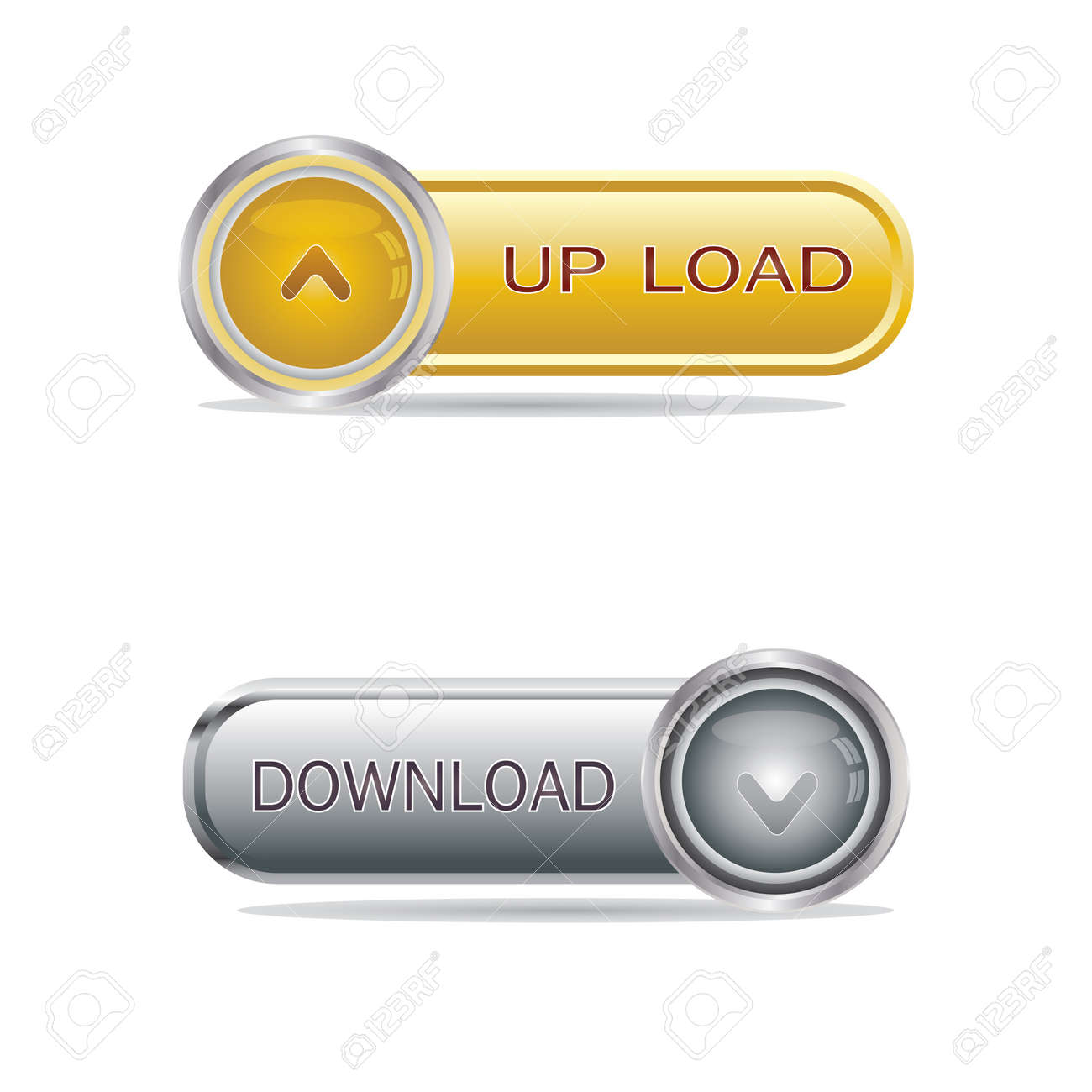 Media buttons isolated on white Stock Vector - 14523452