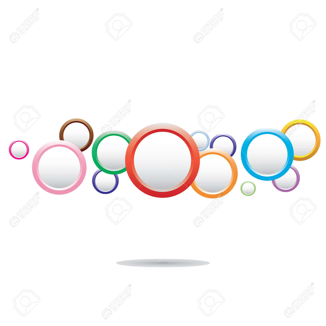 Abstract colorful background with circles Stock Vector - 14523451