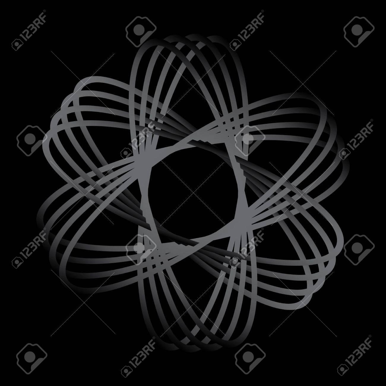 Atom part on black bakground vector Stock Vector - 15541458