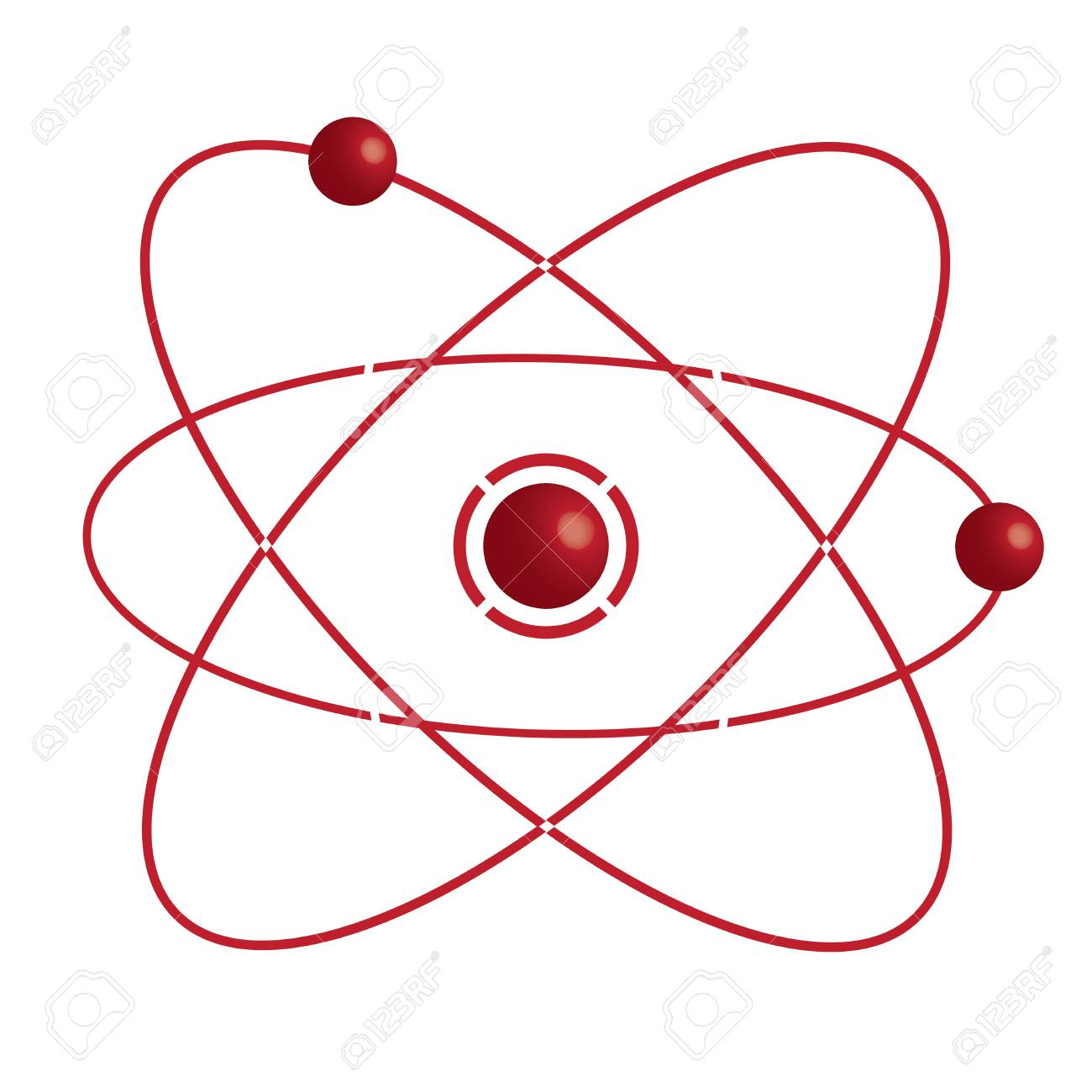 Atom part on white bakground.vector Stock Vector - 17037242
