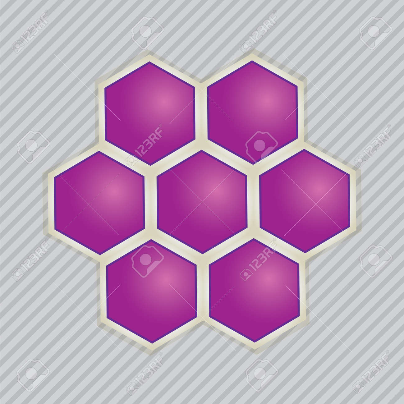 Abstract images of molecular structures .vector Stock Vector - 17037241