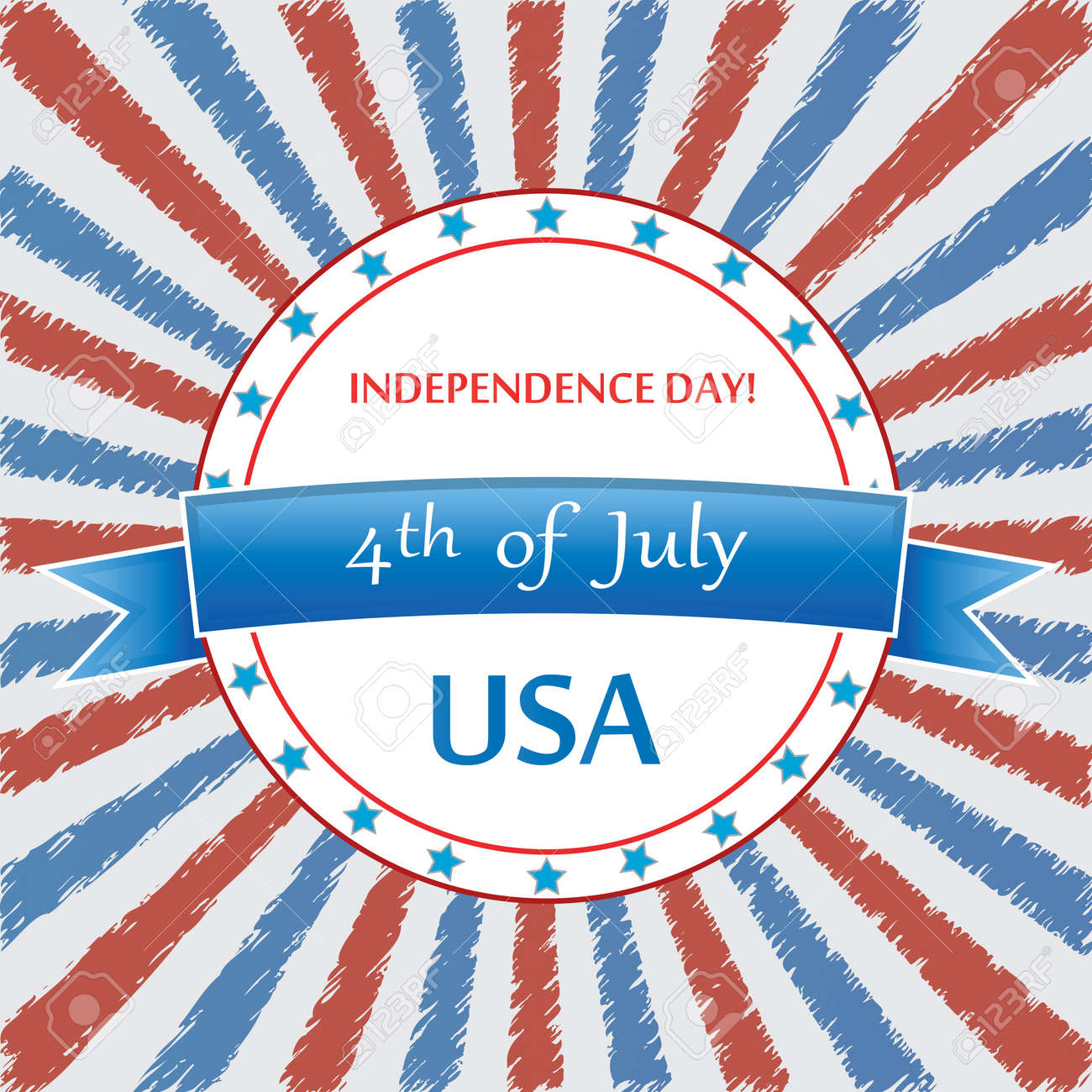 4 th of july background .vector Stock Vector - 19859252