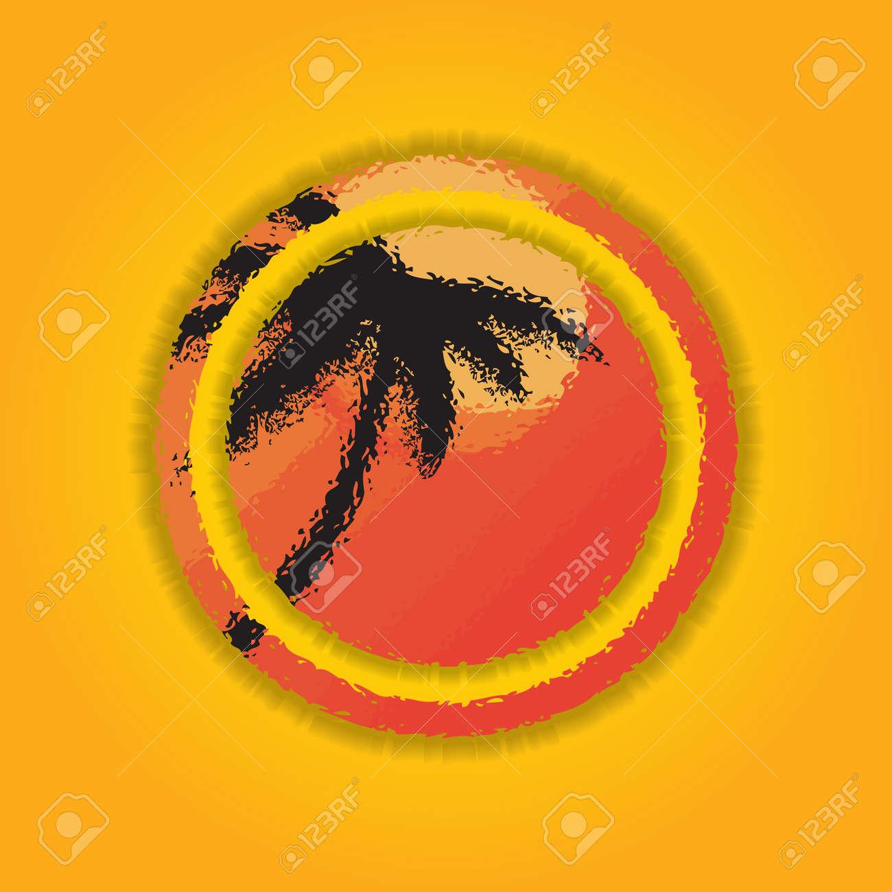 Round shape summer banner. Stock Vector - 21852804