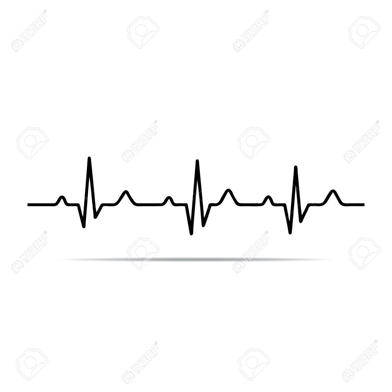 illustration heart rhythm ekg royalty free cliparts vectors and rh 123rf com ecg vectors ecg victoria hospital kirkcaldy