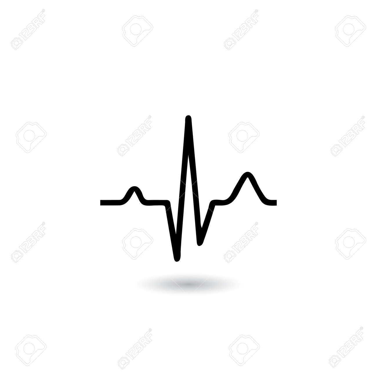 ekg signal on white background vector eps10 royalty free cliparts rh 123rf com ecg victoria hospital kirkcaldy ekg vector