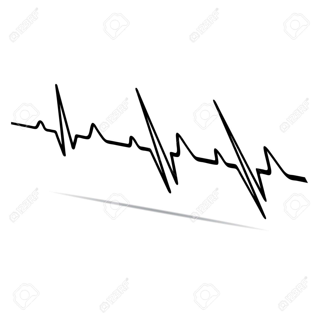 vector illustration heart rhythm ekg vector royalty free cliparts rh 123rf com ekg vector ekg vector pdf