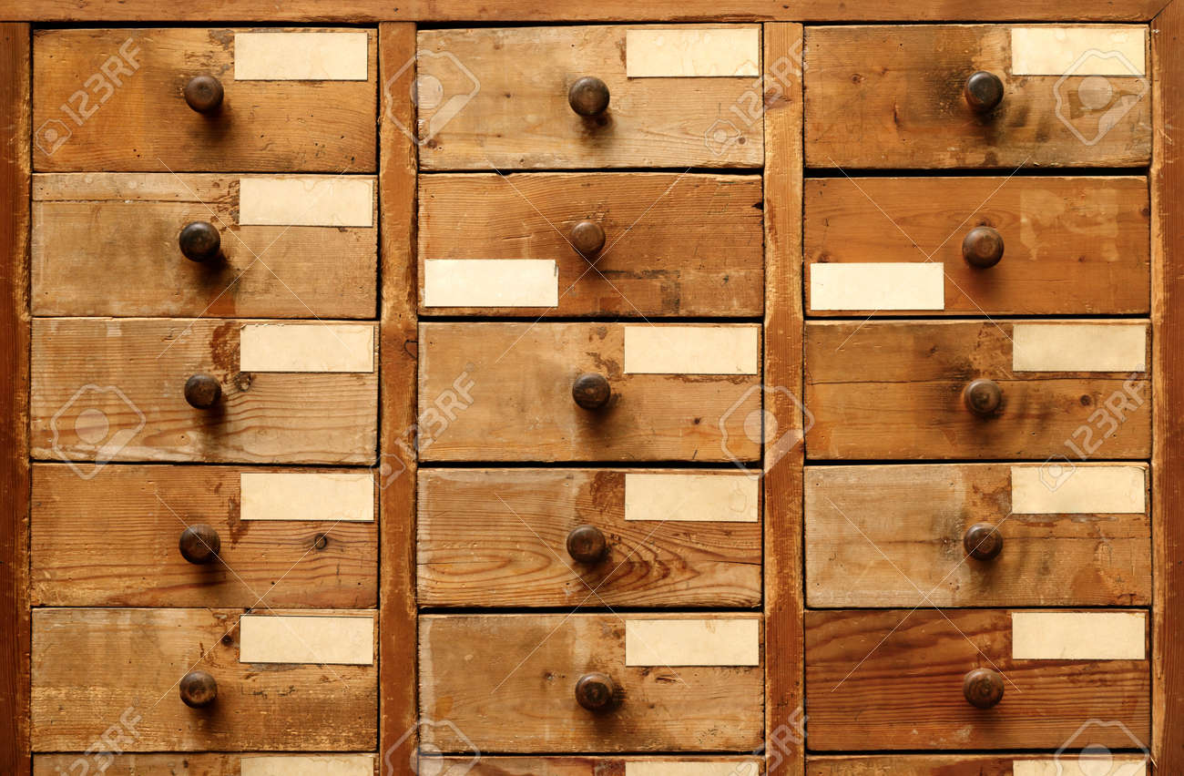 Backgrounds And Textures Very Old Wooden Cabinet With Drawers