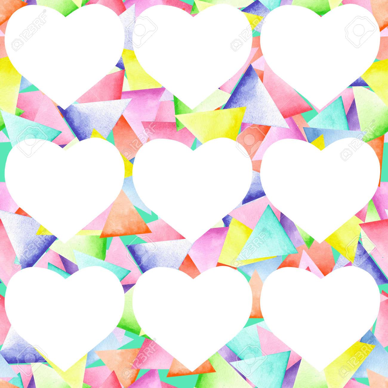 Modelo Geométrico Inconsútil Con Triángulos Brillantes Pintados En ...