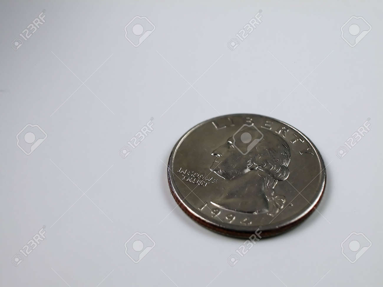 Coins-Only Quarter Stock Photo - 2571905
