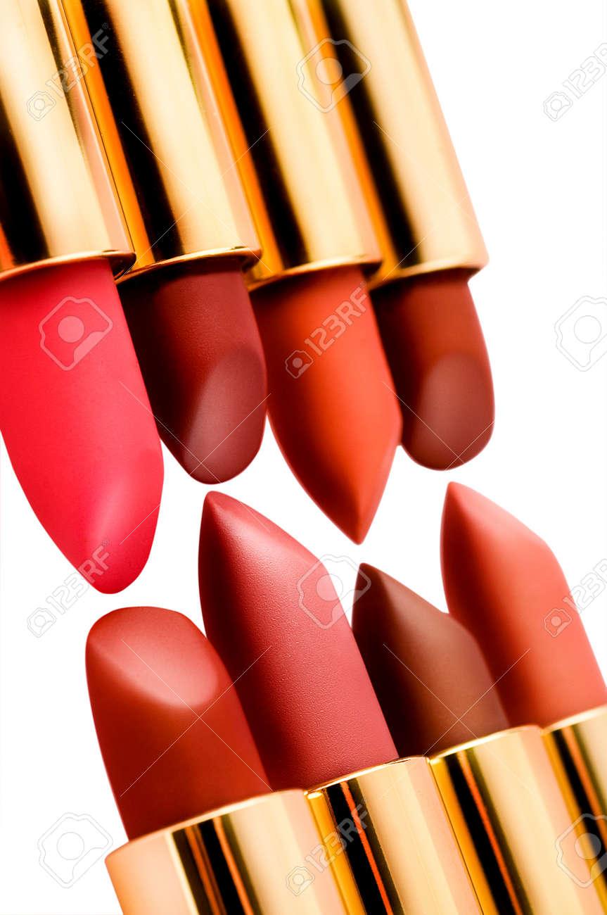 Lipsticks, isolated on white - 90110432