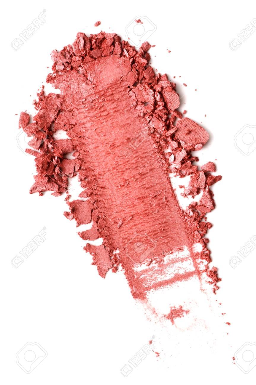 Crushed blusher isolated on white background - 88482547